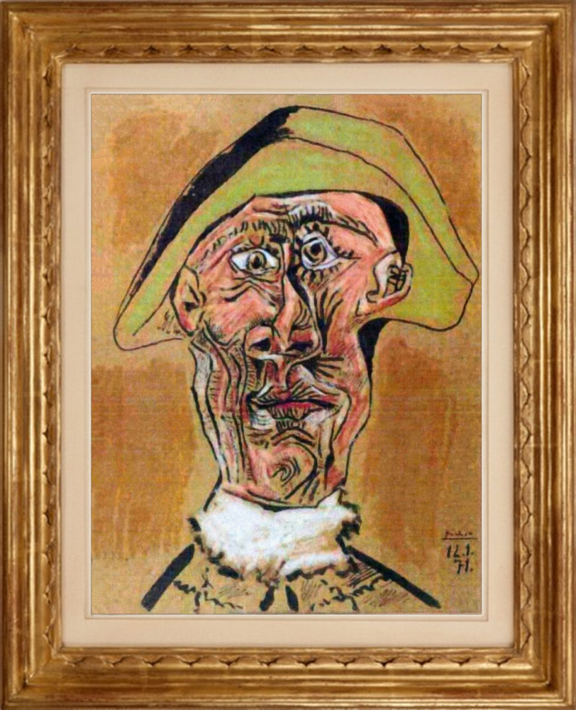 Harlequin Head [Pablo Picasso] | Sartle - See Art Differently