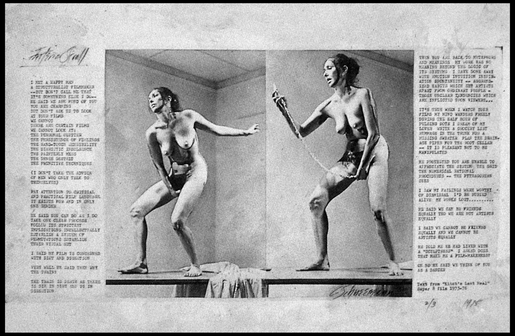 Interior Scroll [Carolee Schneemann] | Sartle   See Art Differently