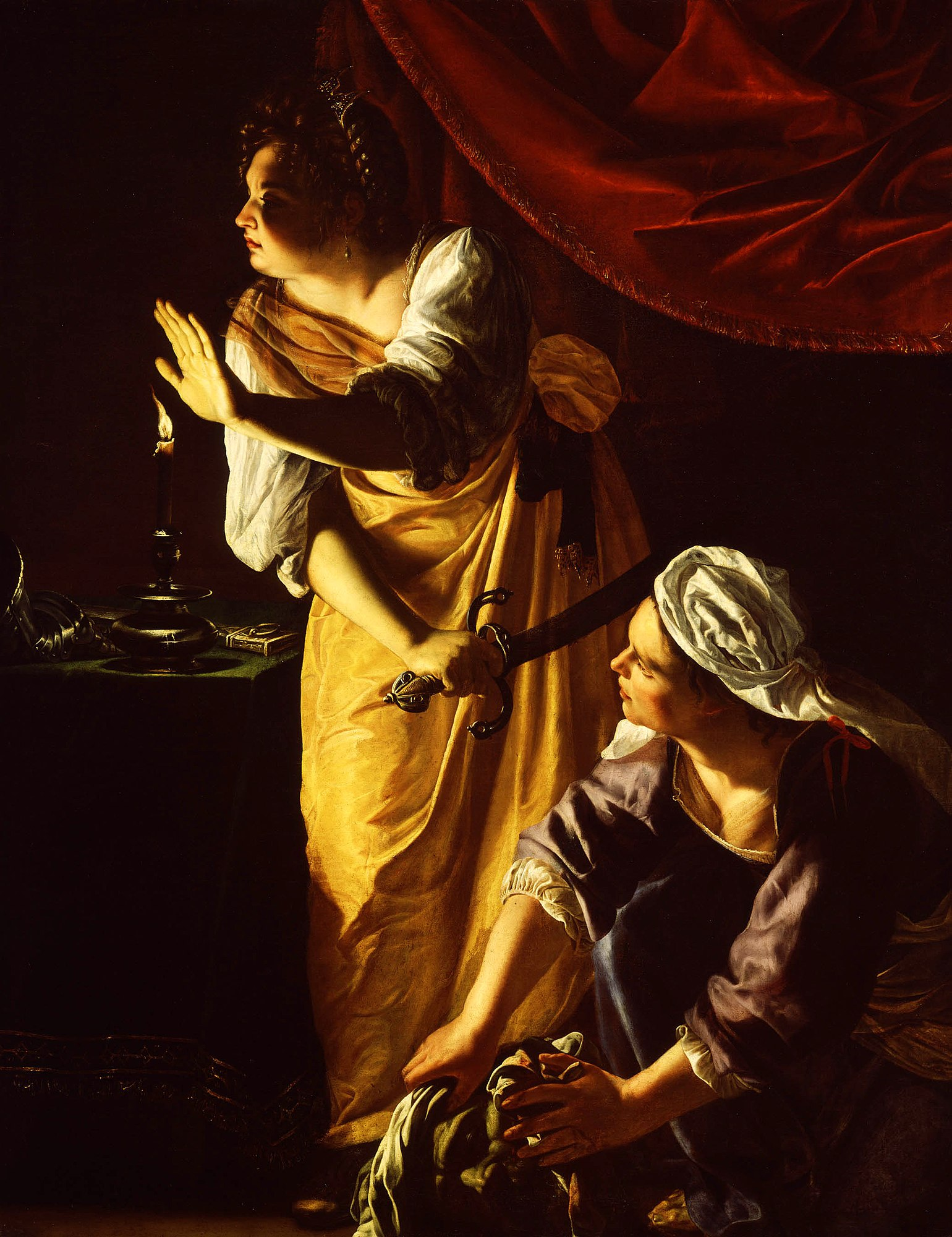 judith and maidservant with the head of holofernes