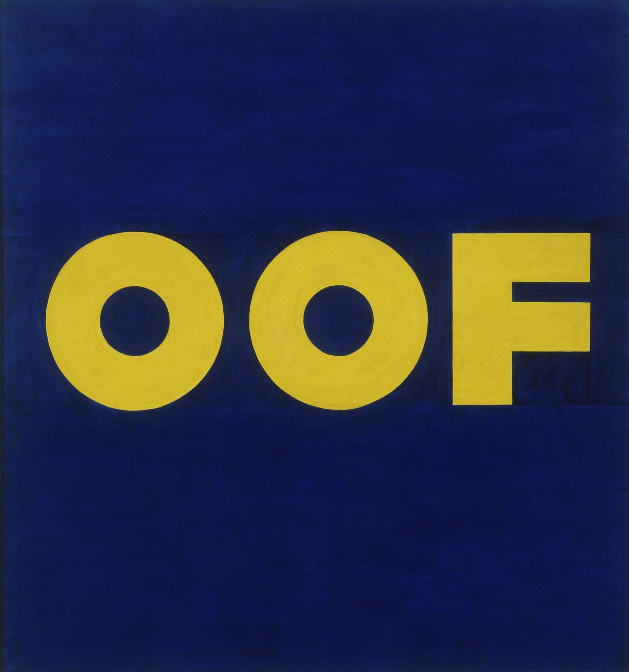 OOF [Edward Ruscha]   Sartle - Rogue Art History