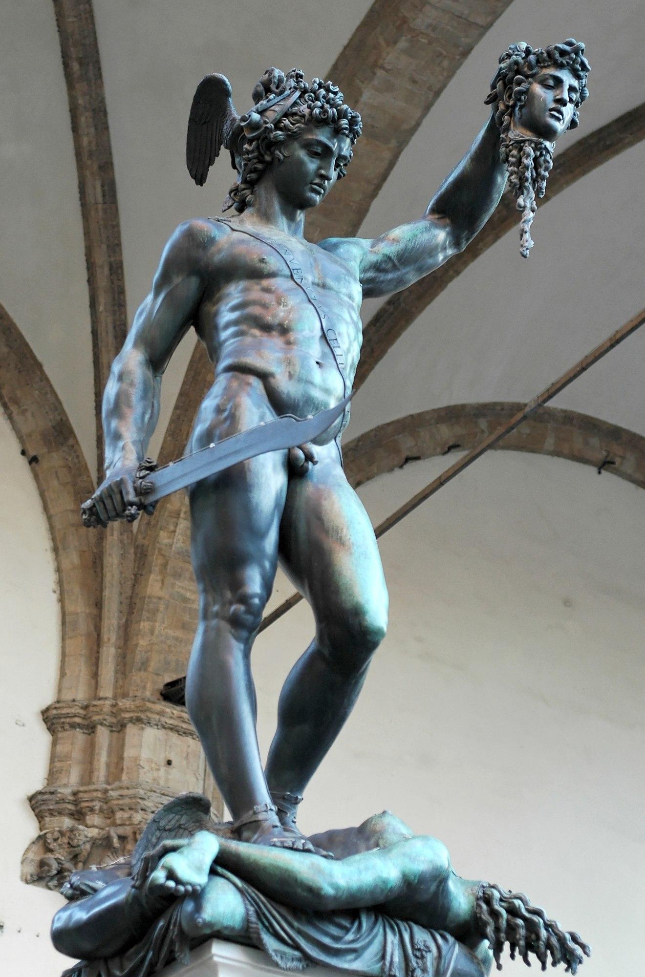 Perseus With The Head Of Medusa Benvenuto Cellini Sartle
