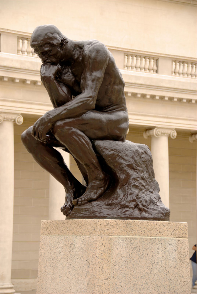 the thinker auguste rodin 1904 sartle rogue art history