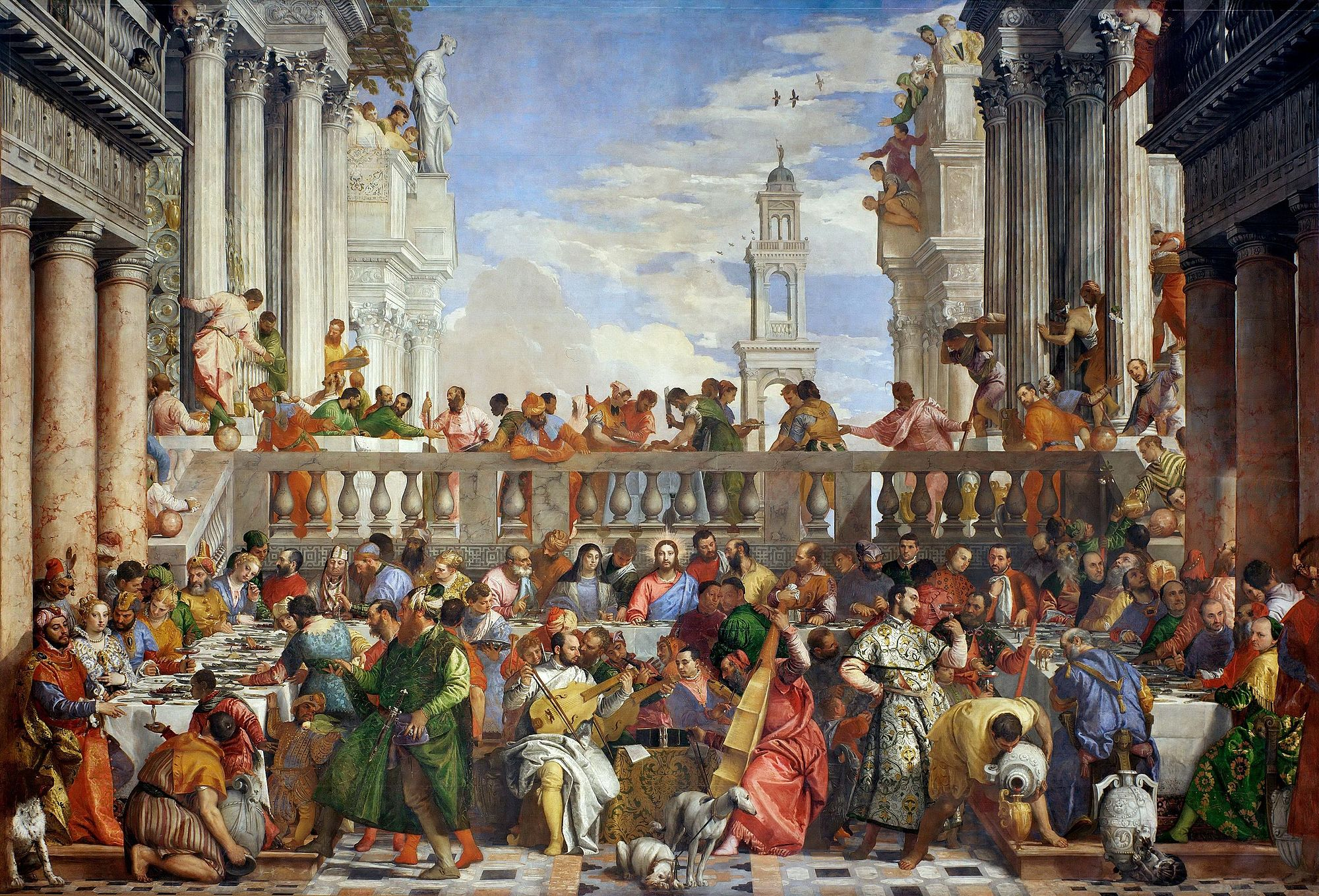 Wedding Feast At Cana.The Wedding At Cana Paolo Veronese Sartle Rogue Art History