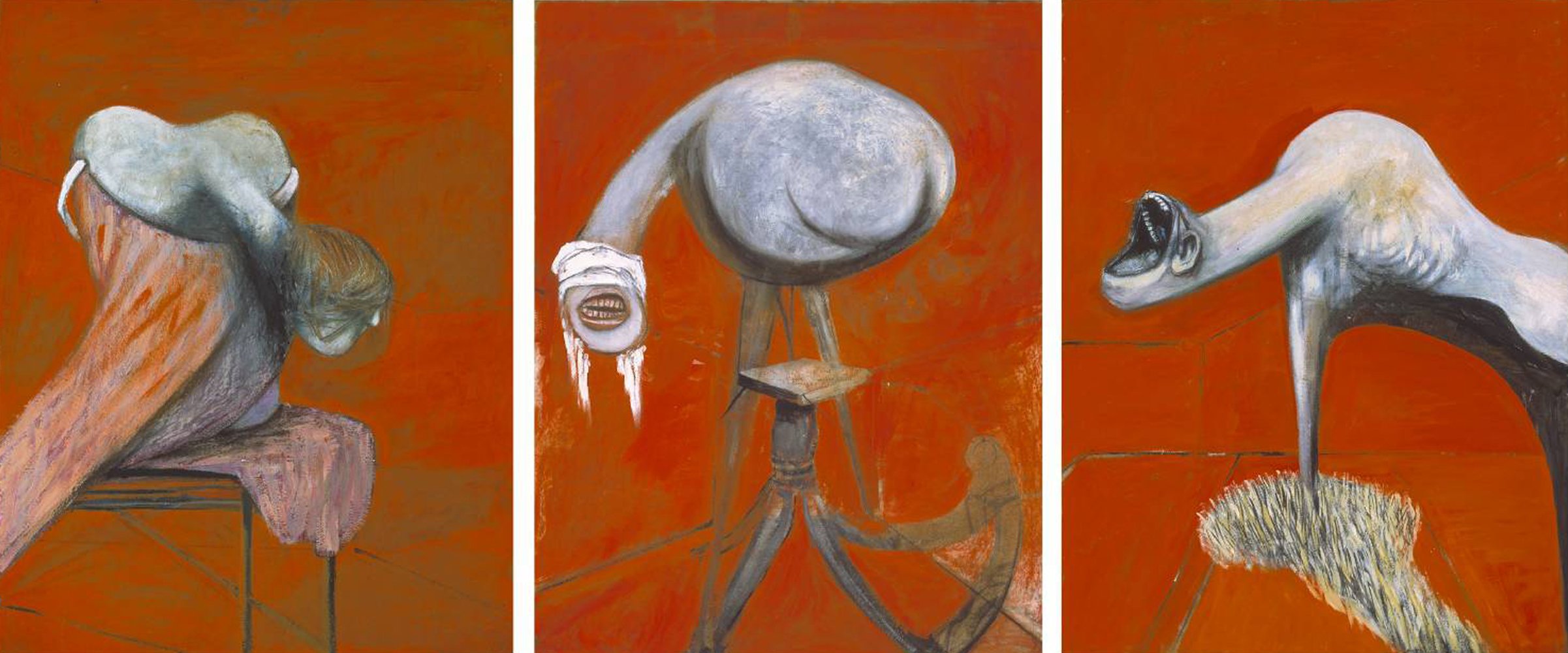 Three Stu S For Figures At The Base Of A Crucifixion Francis Bacon Sartle Rogue Art History