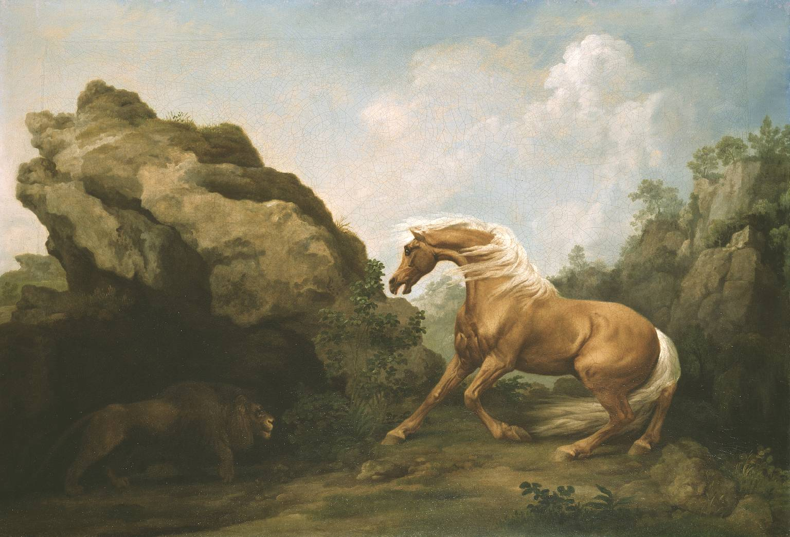 Horse Frightened by a Lion [George Stubbs] | Sartle - Rogue Art History