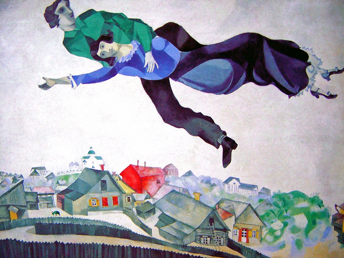 Over the Town [Marc Chagall] | Sartle - See Art Differently