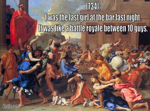 an analysis of the rape of the sabine women by nicolas poussin
