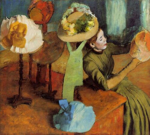 The Milliner's Shop by Edgar Degas at the Legion of Honor