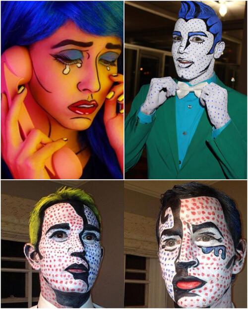 Roy Lichtenstein Halloween Costume.25 Amazing Ideas For Art History Halloween Costumes Sartle